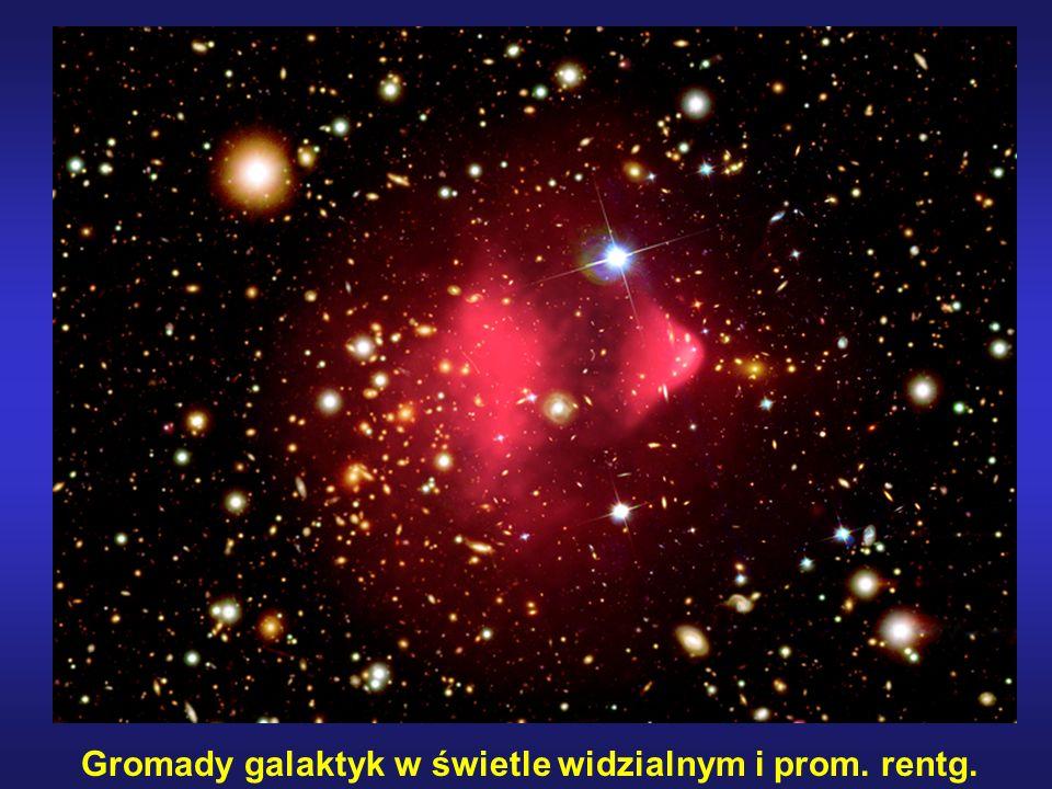 Gromady galaktyk w świetle widzialnym i prom. rentg.