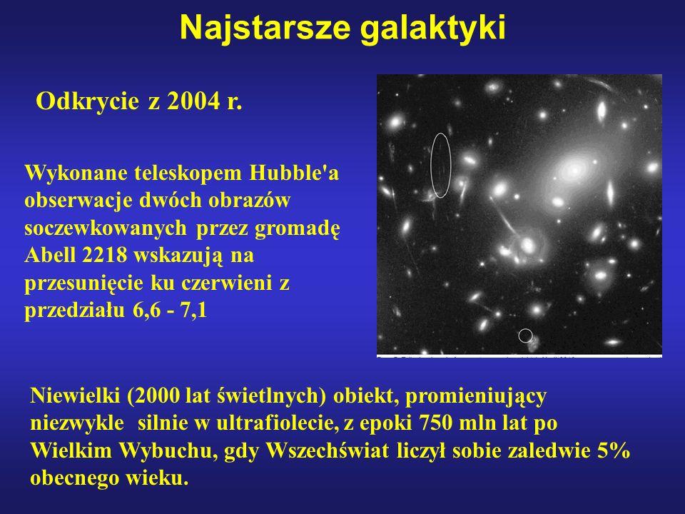 Najstarsze galaktyki Odkrycie z 2004 r.