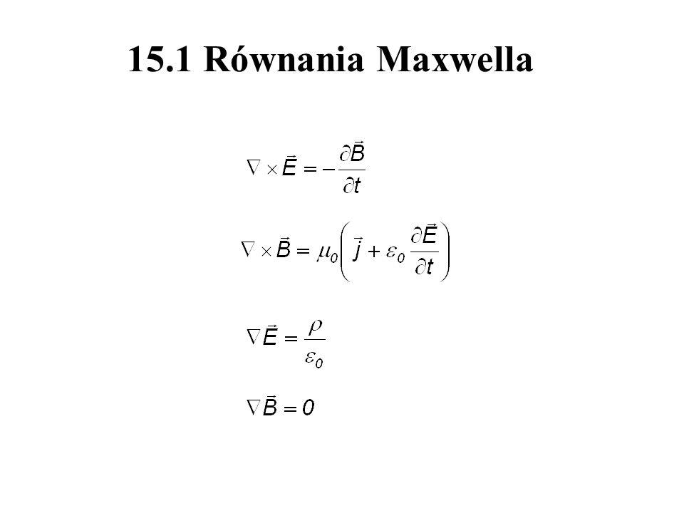 15.1 Równania Maxwella