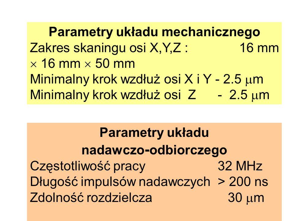 Parametry układu mechanicznego