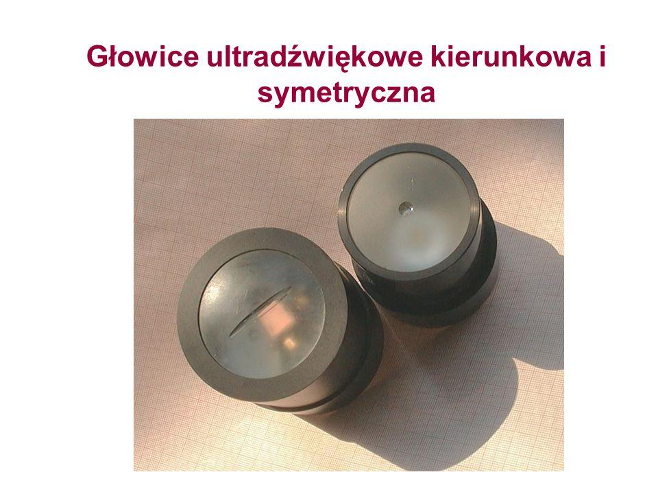 Głowice ultradźwiękowe kierunkowa i symetryczna