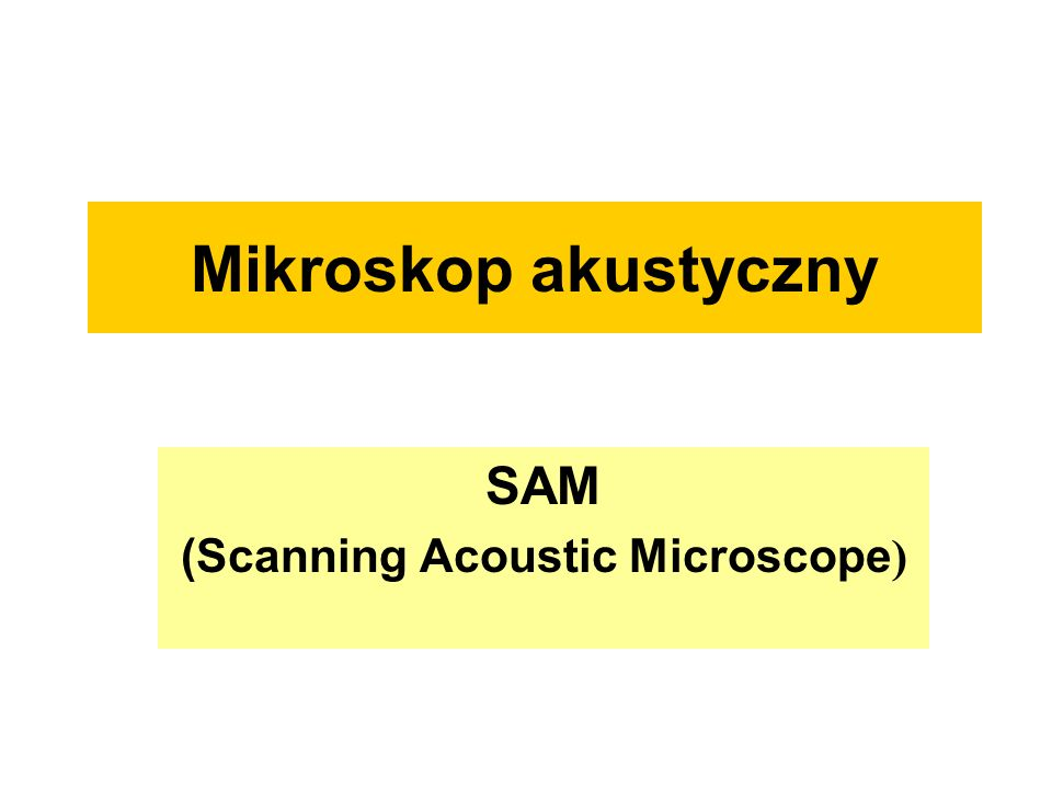 SAM (Scanning Acoustic Microscope)