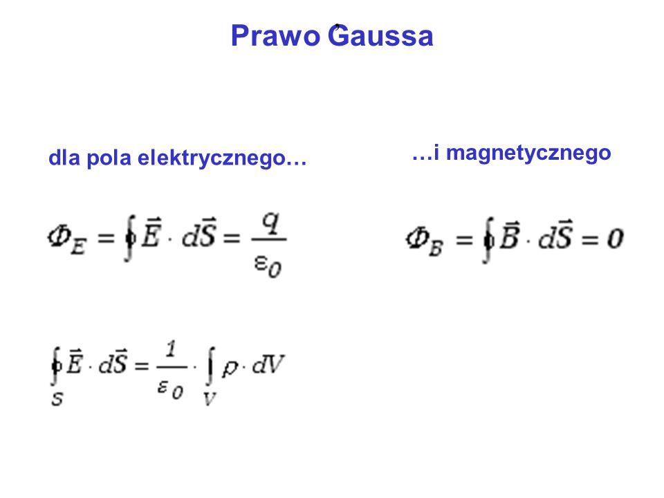 , Prawo Gaussa …i magnetycznego dla pola elektrycznego…