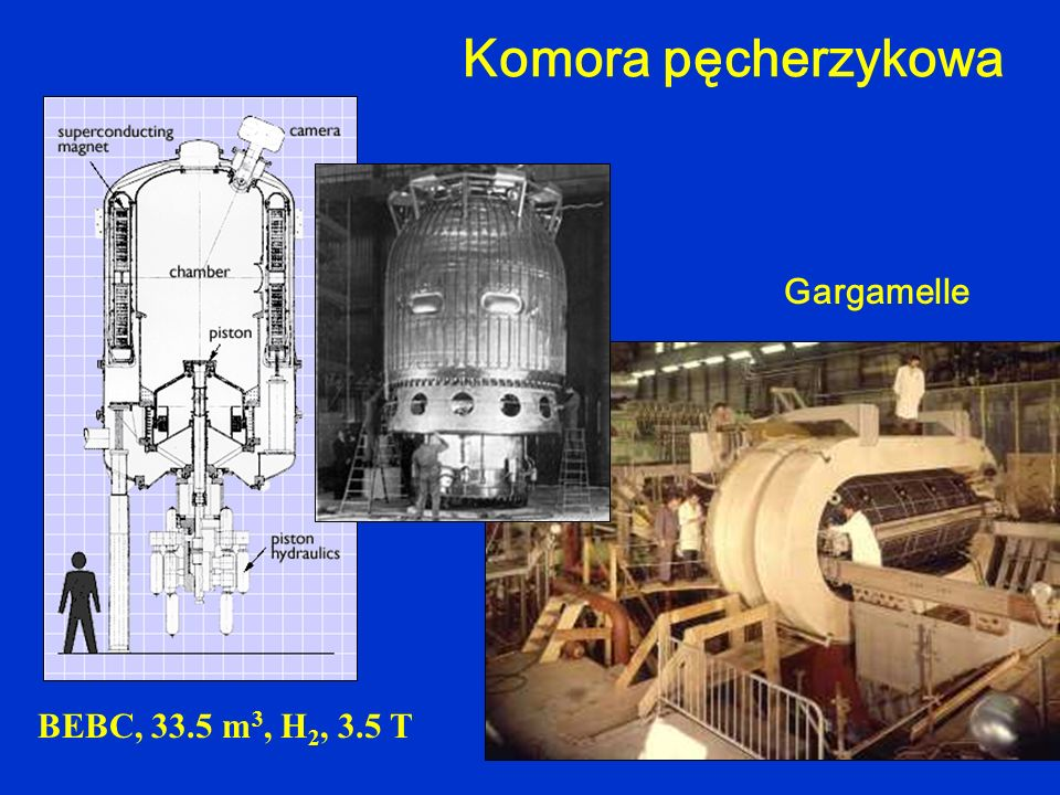 Komora pęcherzykowa BEBC, 33.5 m3, H2, 3.5 T Gargamelle