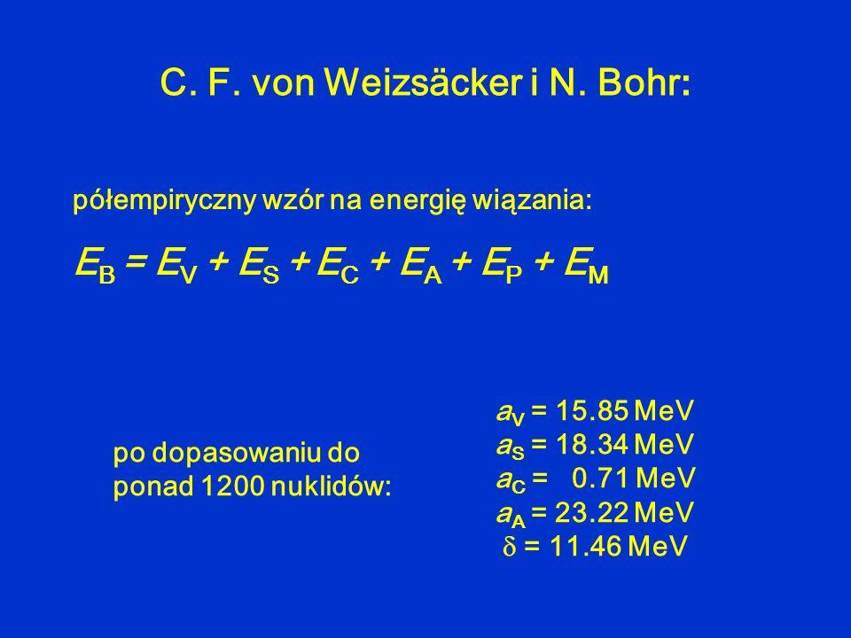 C. F. von Weizsäcker i N. Bohr: