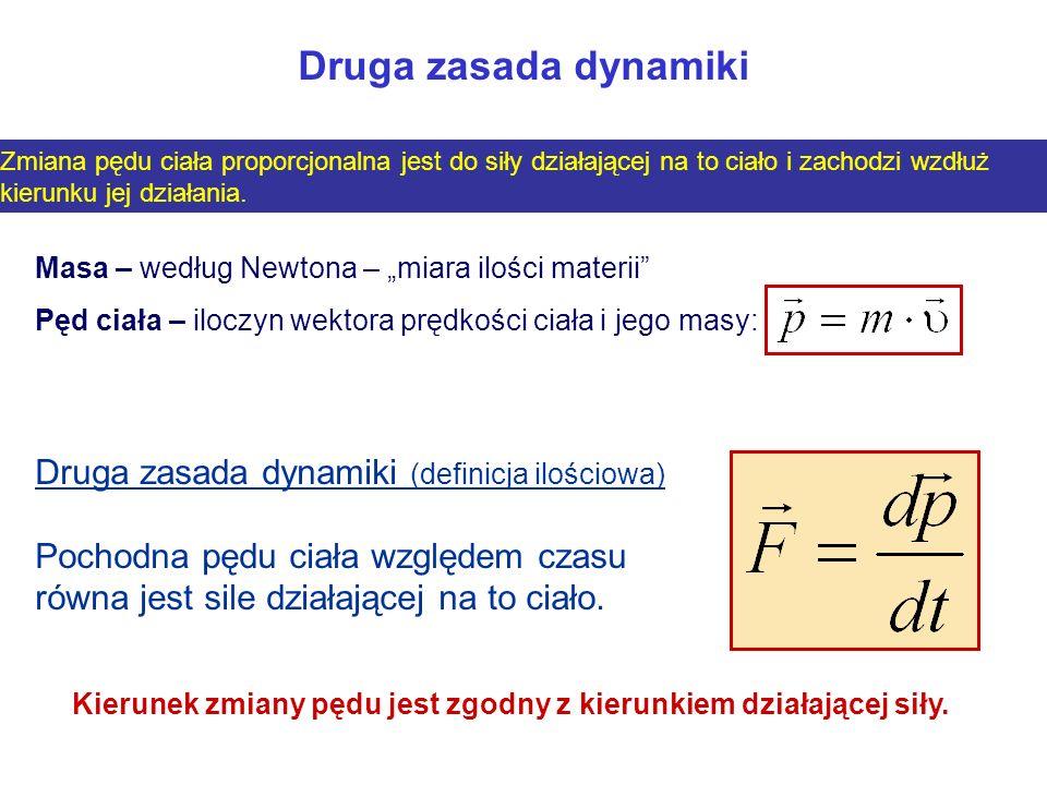 Druga zasada dynamiki Druga zasada dynamiki (definicja ilościowa)