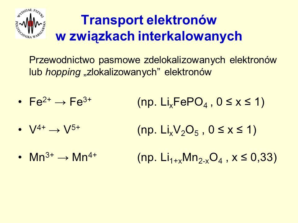 Transport elektronów w związkach interkalowanych