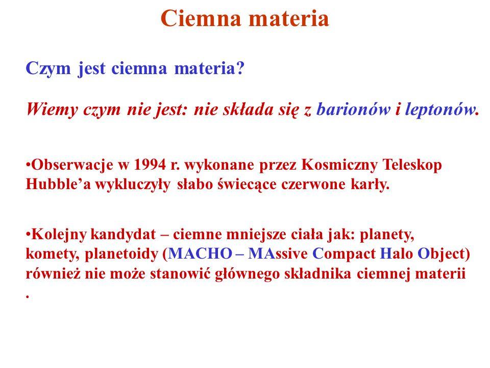 Ciemna materia Czym jest ciemna materia