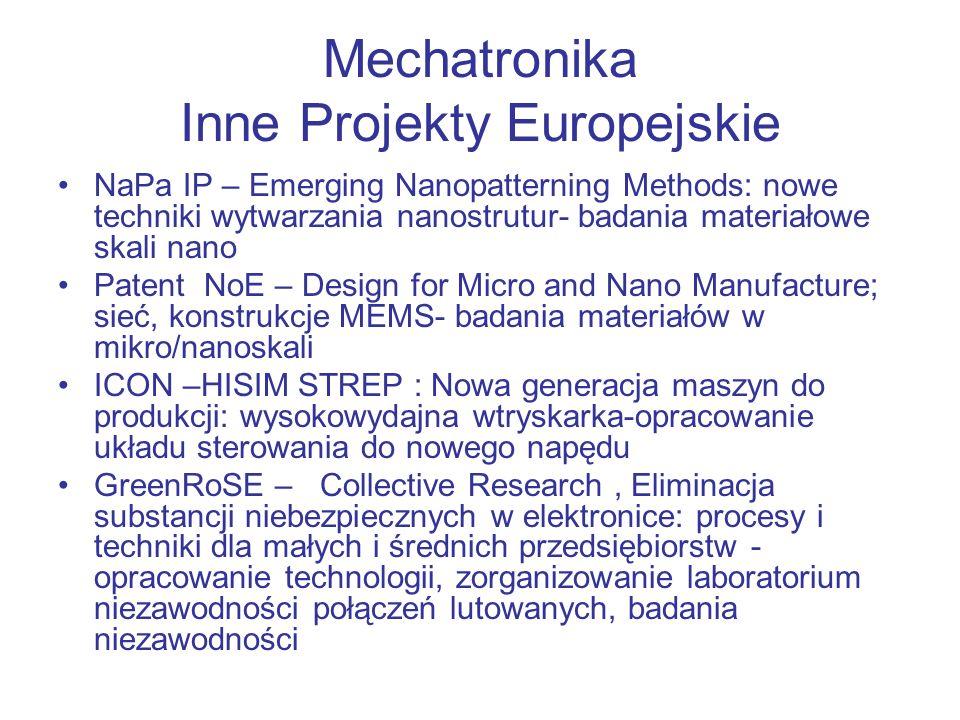 Mechatronika Inne Projekty Europejskie