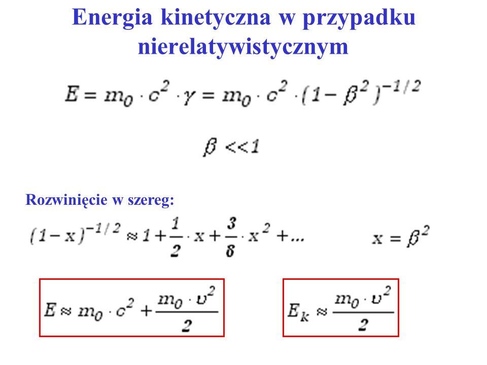 Energia kinetyczna w przypadku nierelatywistycznym