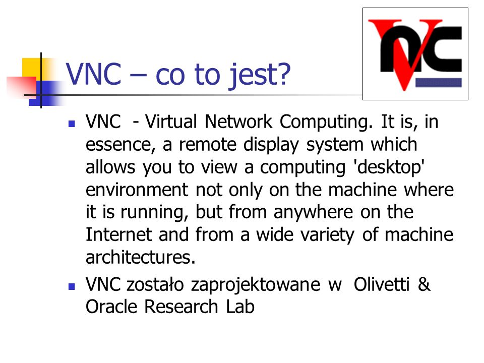VNC – co to jest