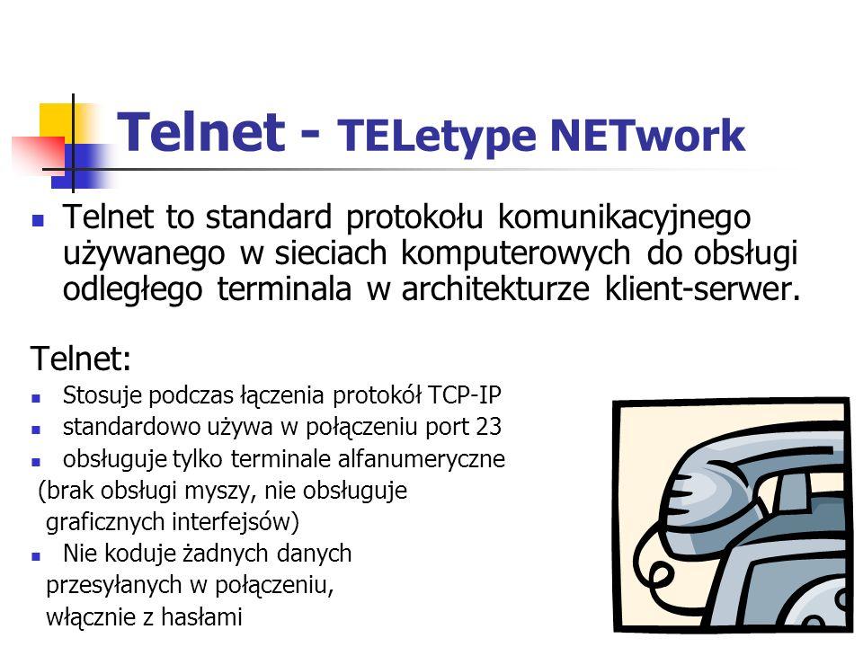 Telnet - TELetype NETwork