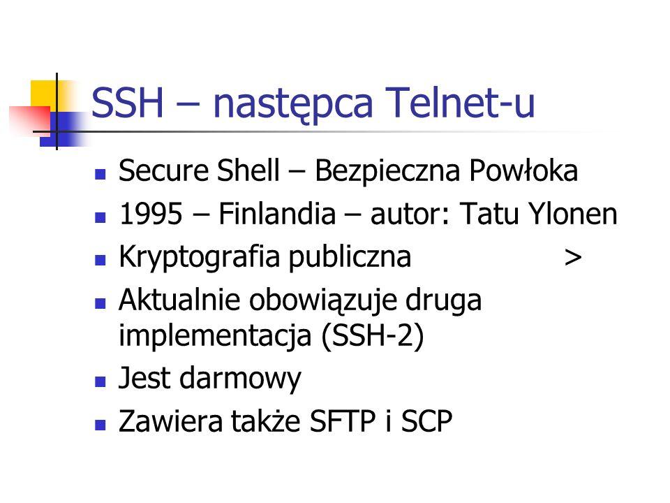 SSH – następca Telnet-u
