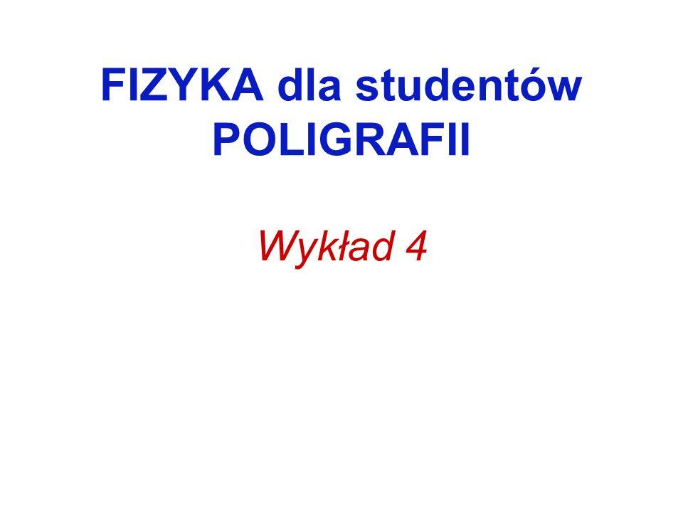 FIZYKA dla studentów POLIGRAFII Wykład 4