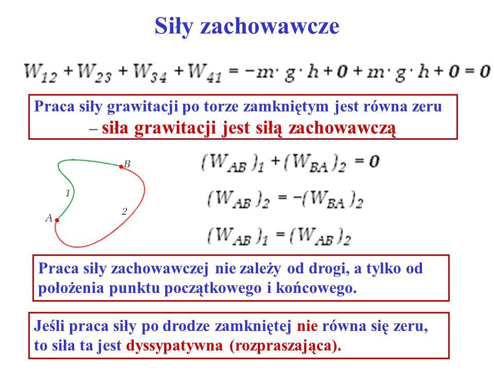 – siła grawitacji jest siłą zachowawczą