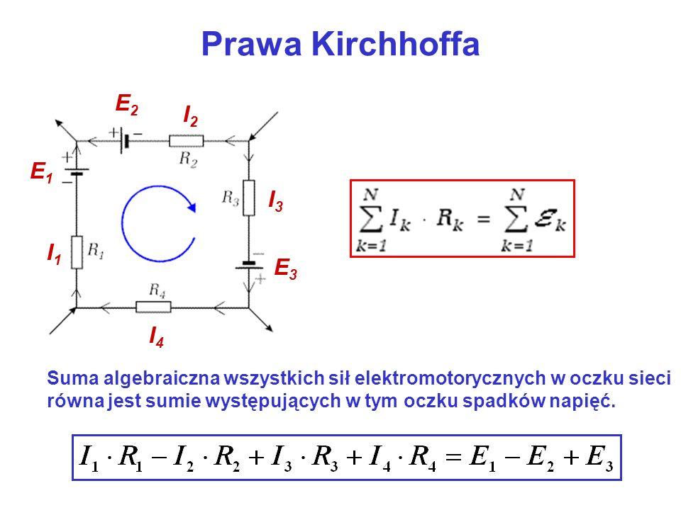 Prawa Kirchhoffa E2 I2 E1 I3 I1 E3 I4