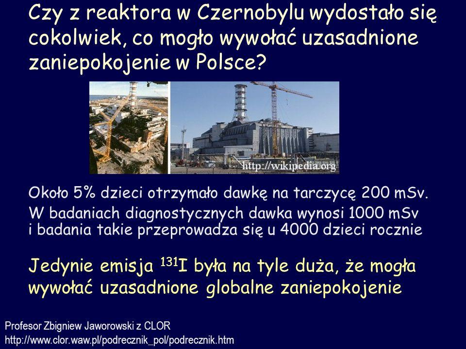 Czy z reaktora w Czernobylu wydostało się cokolwiek, co mogło wywołać uzasadnione zaniepokojenie w Polsce