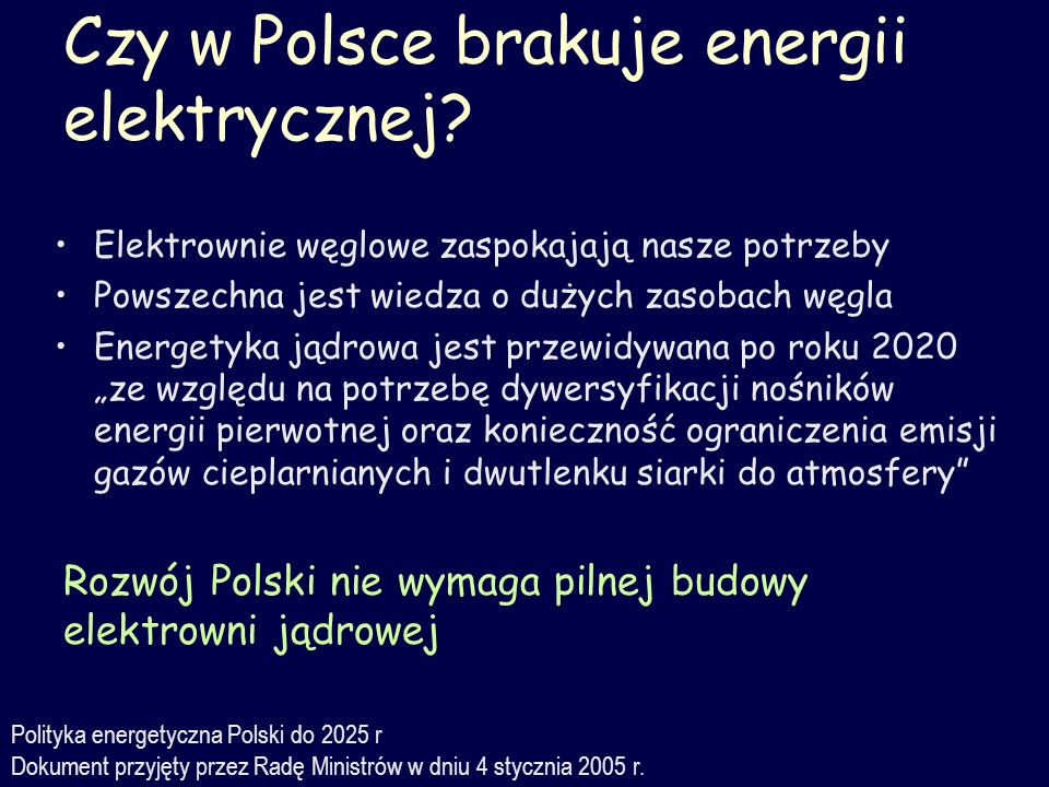 Czy w Polsce brakuje energii elektrycznej