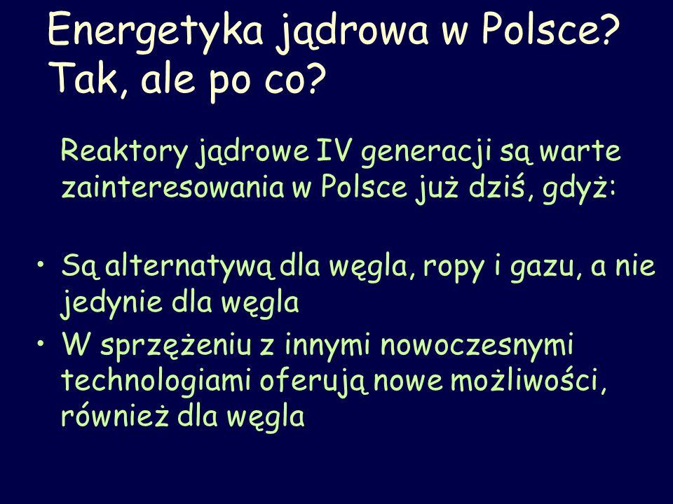 Energetyka jądrowa w Polsce Tak, ale po co