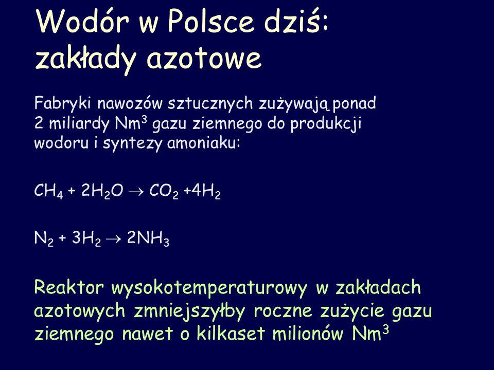Wodór w Polsce dziś: zakłady azotowe
