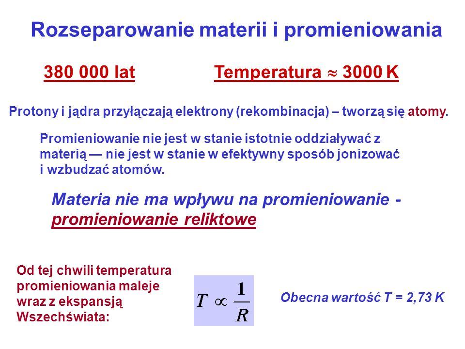 Rozseparowanie materii i promieniowania