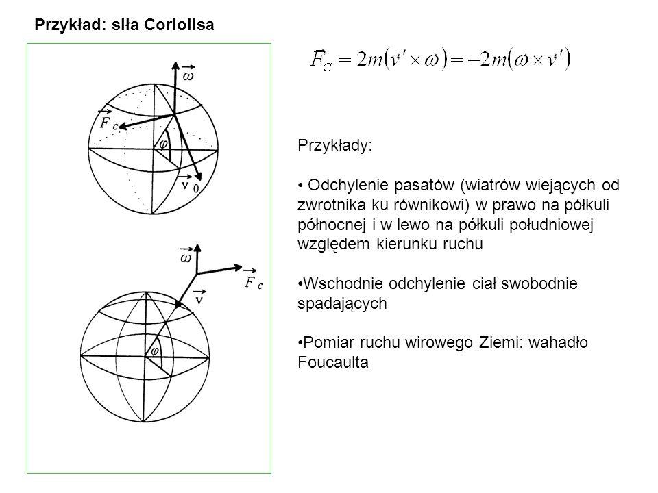 Przykład: siła Coriolisa