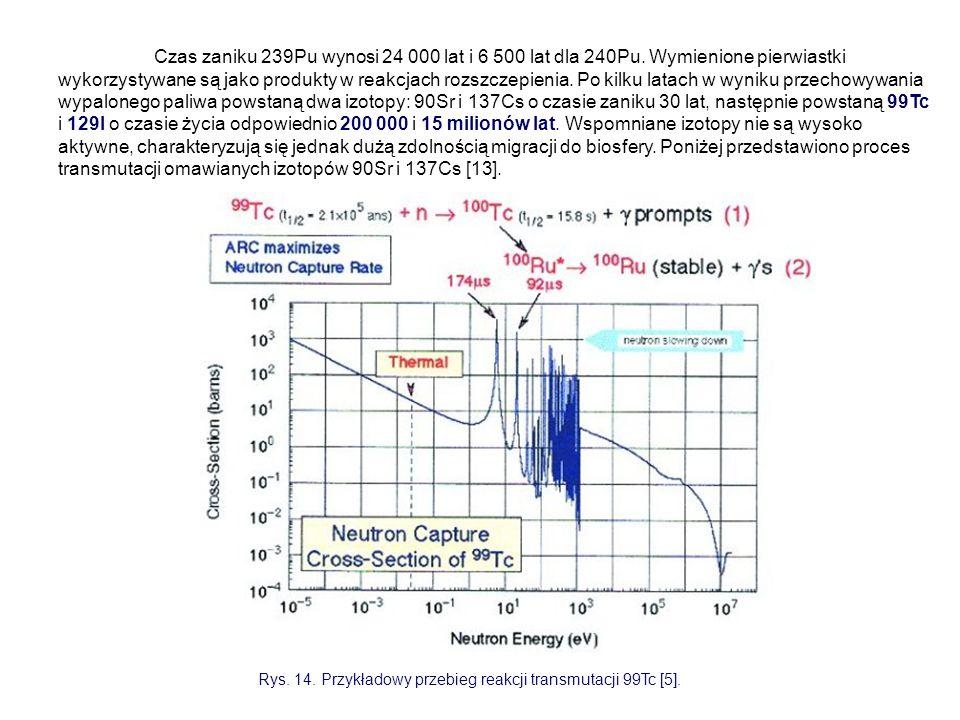 Czas zaniku 239Pu wynosi 24 000 lat i 6 500 lat dla 240Pu