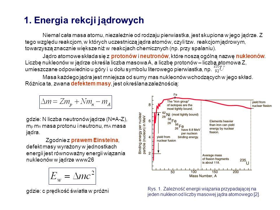 1. Energia rekcji jądrowych