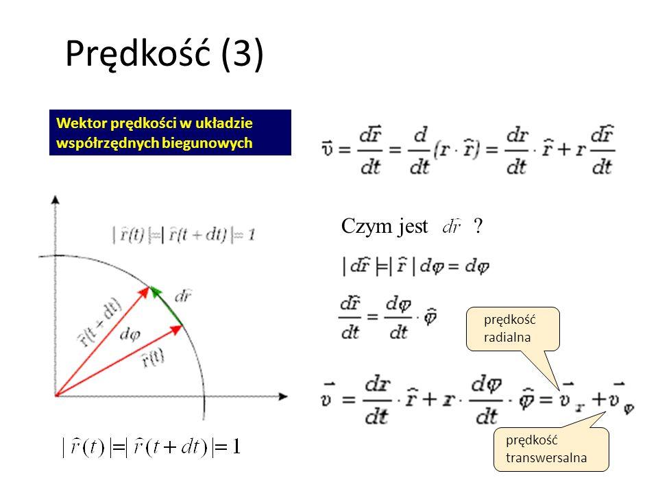 Prędkość (3) Czym jest Wektor prędkości w układzie
