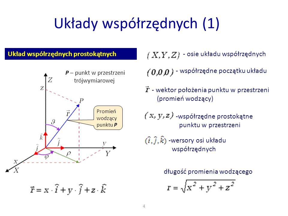 Układy współrzędnych (1)