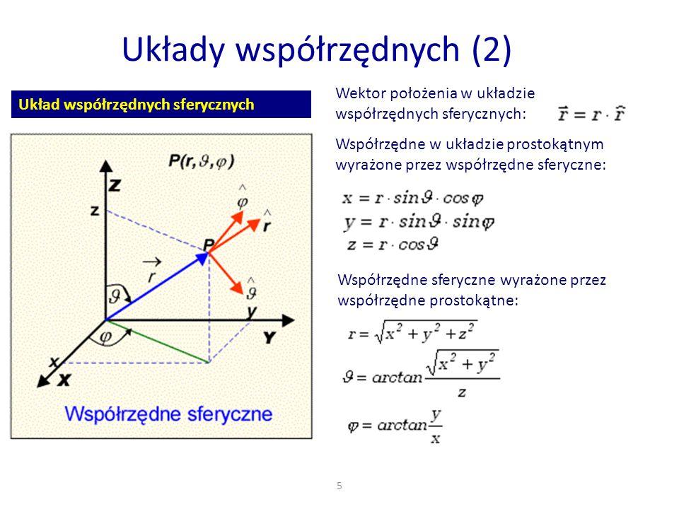 Układy współrzędnych (2)
