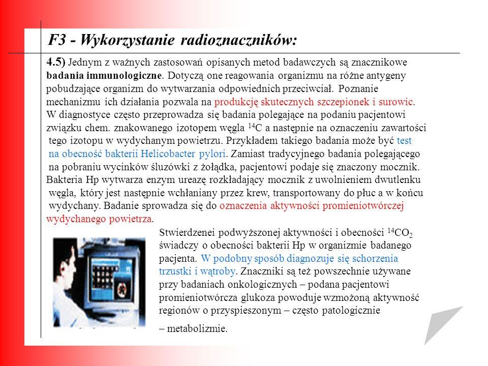F3 - Wykorzystanie radioznaczników: