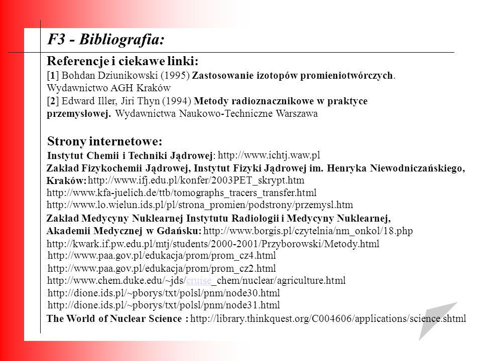 F3 - Bibliografia: Referencje i ciekawe linki: Strony internetowe:
