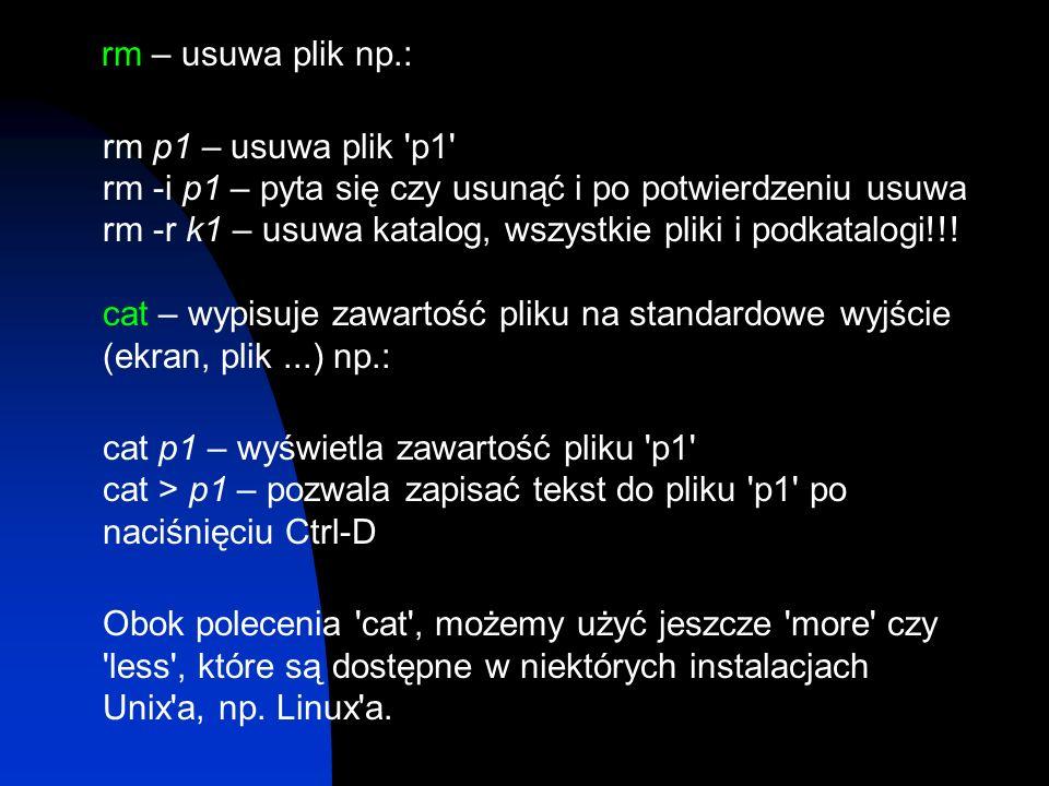 rm – usuwa plik np.: