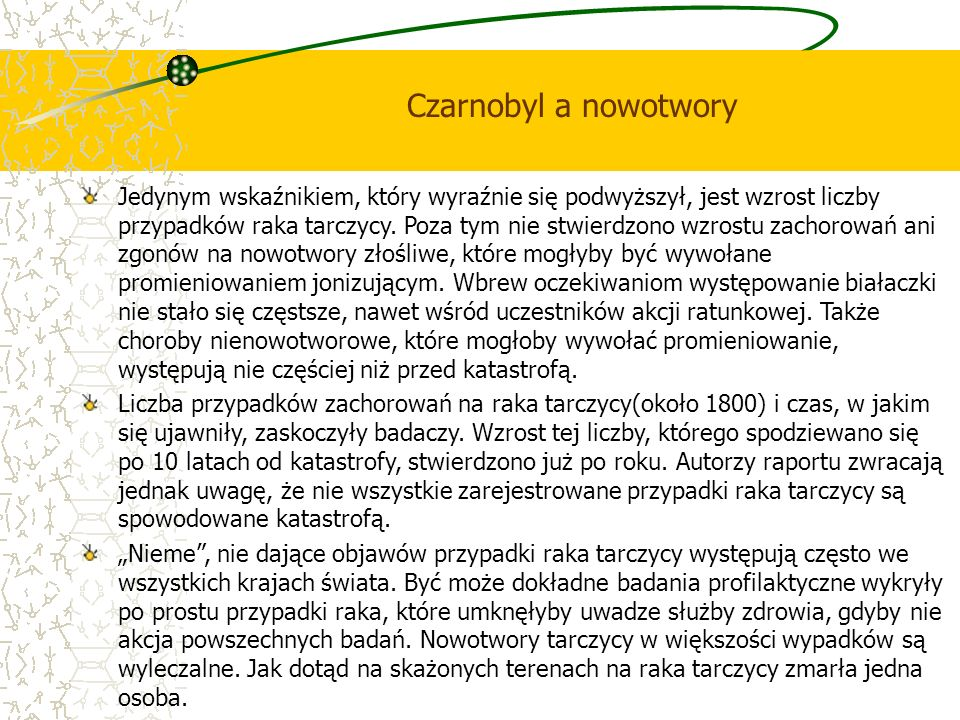 Czarnobyl a nowotwory