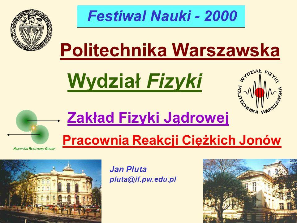 Wydział Fizyki Politechnika Warszawska Festiwal Nauki - 2000