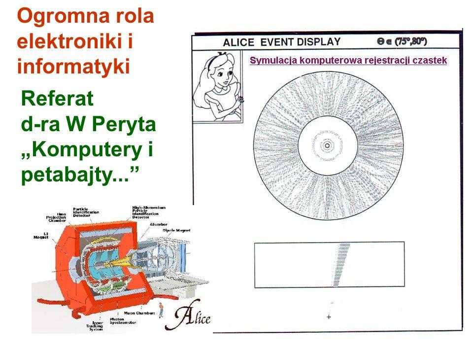 """Ogromna rola elektroniki i informatyki Referat d-ra W Peryta """"Komputery i petabajty..."""