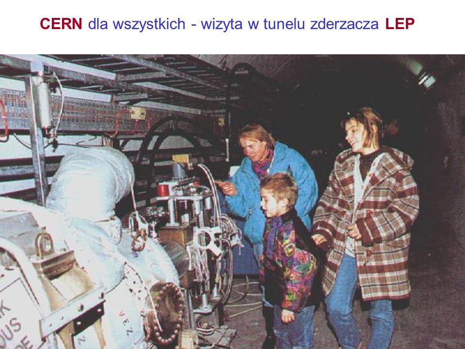 CERN dla wszystkich - wizyta w tunelu zderzacza LEP