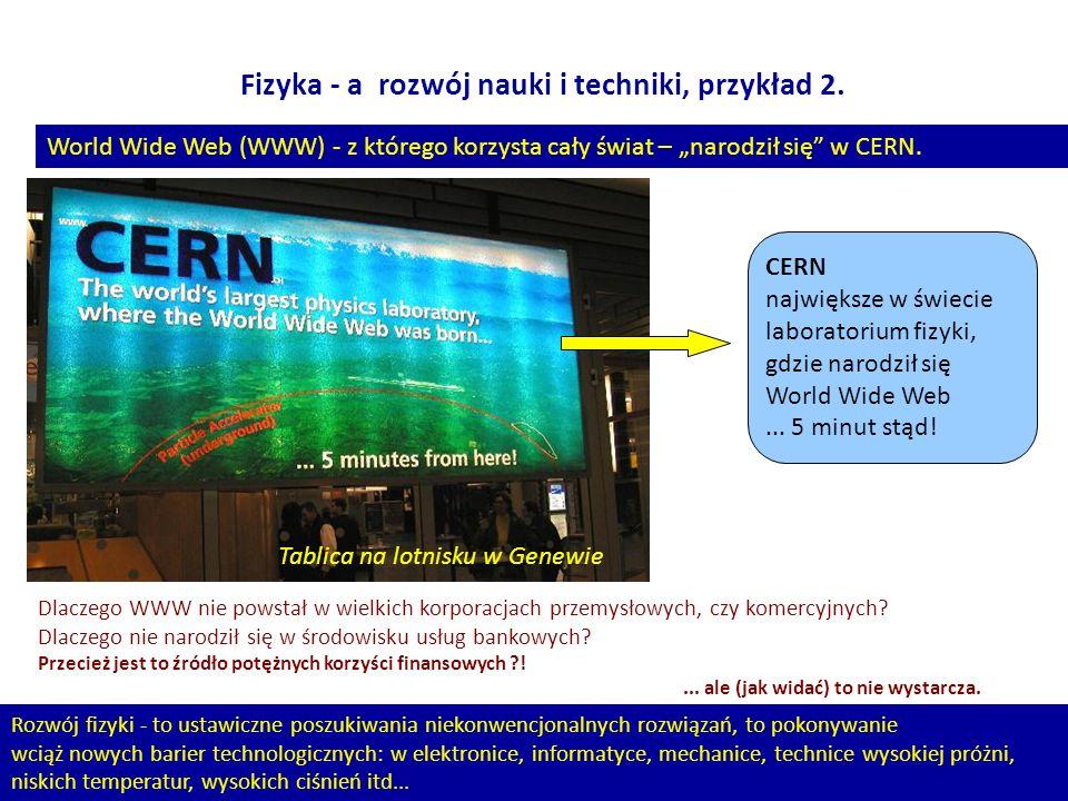 Fizyka - a rozwój nauki i techniki, przykład 2.