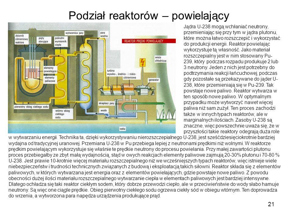 Podział reaktorów – powielający