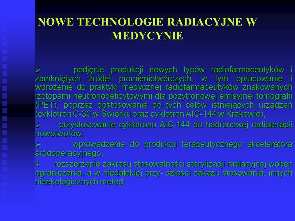 NOWE TECHNOLOGIE RADIACYJNE W MEDYCYNIE