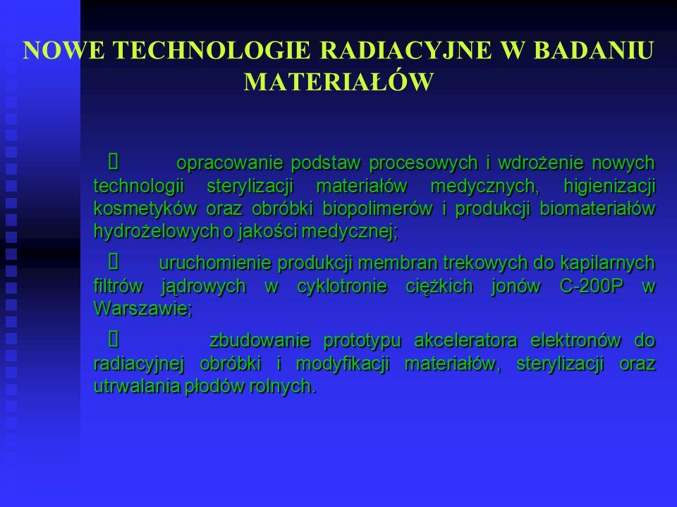 NOWE TECHNOLOGIE RADIACYJNE W BADANIU MATERIAŁÓW
