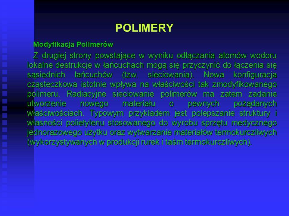 POLIMERYModyfikacja Polimerów.