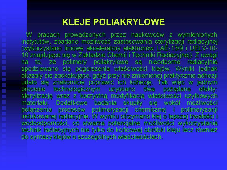 KLEJE POLIAKRYLOWE