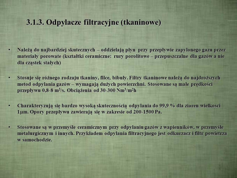 3.1.3. Odpylacze filtracyjne (tkaninowe)