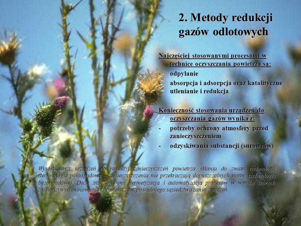 2. Metody redukcji gazów odlotowych