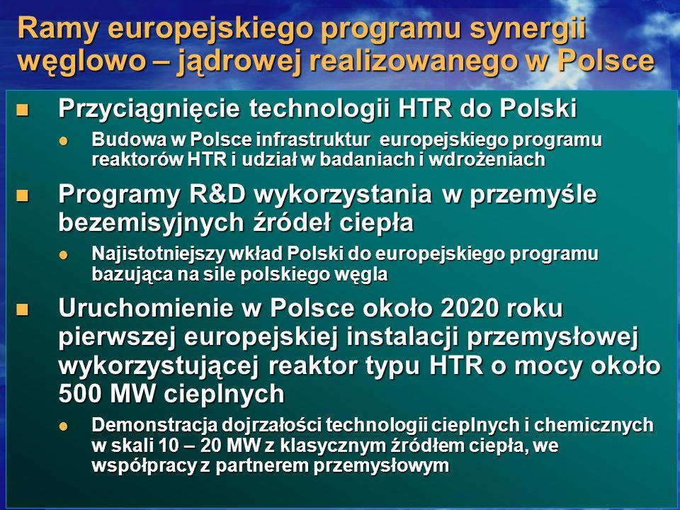 Ramy europejskiego programu synergii węglowo – jądrowej realizowanego w Polsce