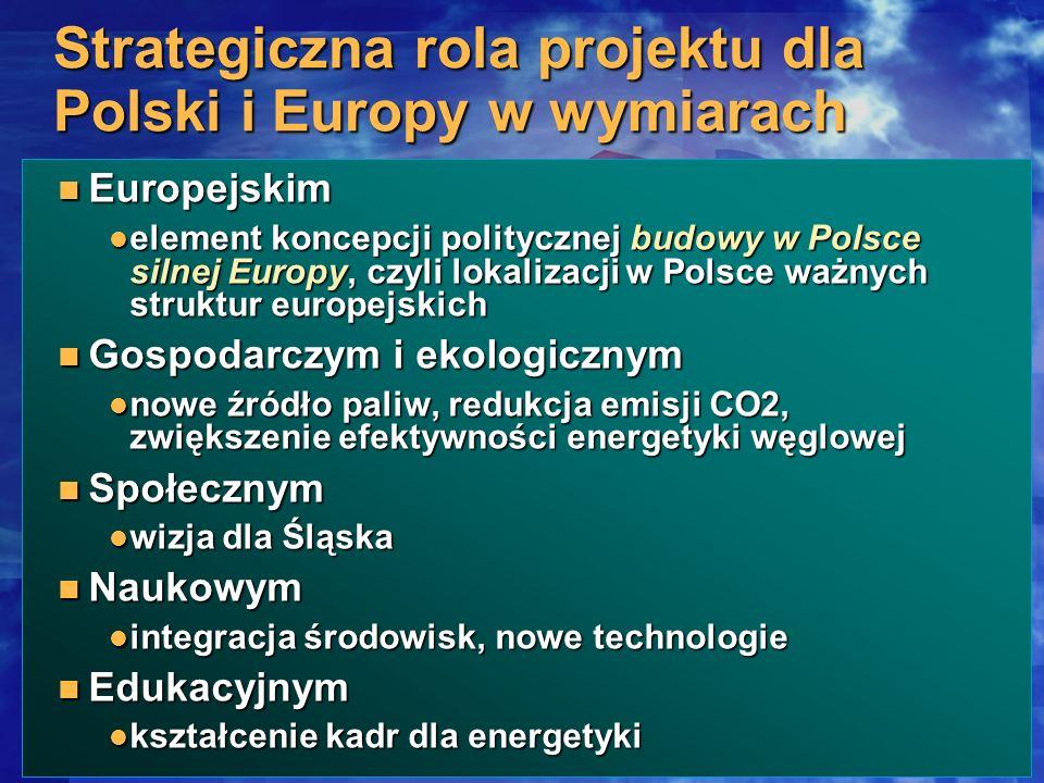 Strategiczna rola projektu dla Polski i Europy w wymiarach