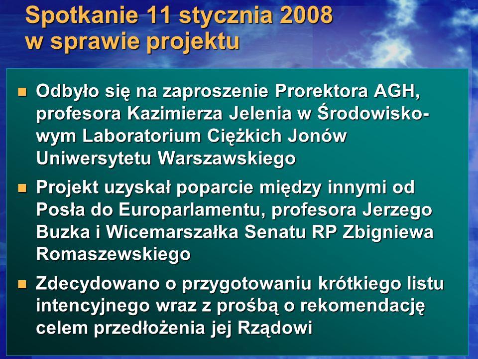 Spotkanie 11 stycznia 2008 w sprawie projektu