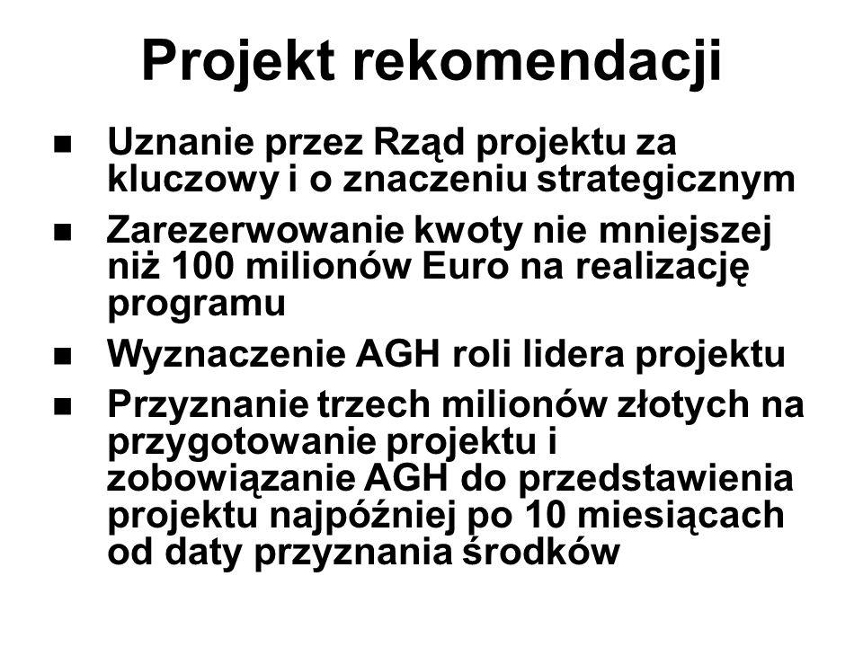 Projekt rekomendacji Uznanie przez Rząd projektu za kluczowy i o znaczeniu strategicznym.